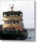 The Sydney Harbour Ferry Supply Metal Print by Joanne Kocwin