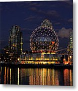 The Telus Science Center At Night Metal Print by Lawrence Christopher