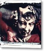 The Third Eye Polaroid Transfer Metal Print by Jane Linders