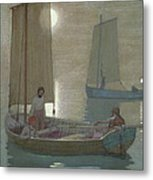 The Three Brothers Metal Print by Frederick Cayley Robinson