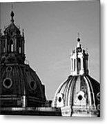 The Twin Domes Of S. Maria Di Loreto And Ss. Nome Di Maria Metal Print by Fabrizio Troiani