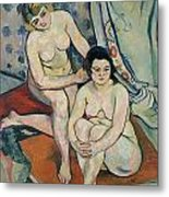 The Two Bathers Metal Print by Marie Clementine Valadon
