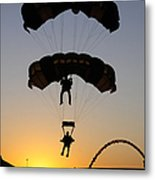 The U.s. Army Golden Knights Perform An Metal Print by Stocktrek Images