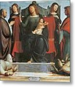 The Virgin And Child Enthroned Metal Print by Bramantino