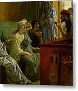 The Wine Shop Metal Print by Sir Lawrence Alma-Tadema