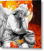 Thinking About Autumn Metal Print by Steve K