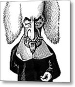 Thomas Hobbes, Caricature Metal Print by Gary Brown