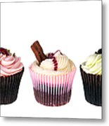 Three Cupcakes Metal Print by Jane Rix
