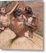 Three Dancers Metal Print by Edgar Degas