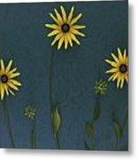 Three Yellow Flowers Metal Print by Deddeda
