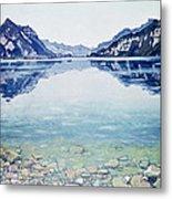 Thunersee Von Leissigen Metal Print by Ferdinand Hodler