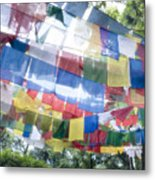 Tibetan Buddhist Prayer Flags Metal Print by Glen Allison