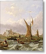 Tilbury Fort - Wind Against The Tide Metal Print by William Clarkson Stanfield