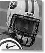 Tim Tebow - Black And White - New York Jets Florida Gators - Timothy Richard Tebow Metal Print by Lee Dos Santos