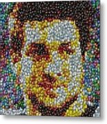 Tim Tebow Mms Mosaic Metal Print by Paul Van Scott