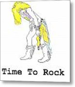 Time To Rock Metal Print by Jeannie Atwater Jordan Allen