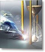 Time Travel, Conceptual Artwork Metal Print by Laguna Design