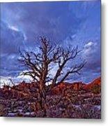 Timed Exposure Of Sunset Clouds Metal Print by Robert Postma