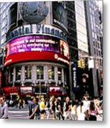 Times Square Corner Metal Print by Linda  Parker