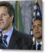 Timothy Geithner Speaks Metal Print by Everett