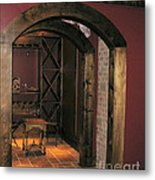 To The Wine Cellar Metal Print by Renee Trenholm