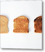 Toasting Bread Metal Print by Photo Researchers, Inc.