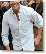 Tom Cruise At Talk Show Appearance Metal Print by Everett