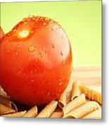 Tomatoes And Pasta Metal Print by Blink Images