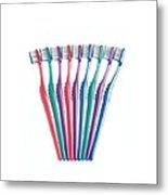 Toothbrushes Metal Print by