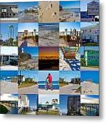 Topsail Visual Contemporary Quilt Series II Metal Print by Betsy Knapp