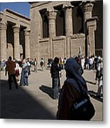 Tourists Wander Through The Temple Metal Print by Taylor S. Kennedy
