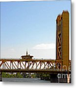 Tower Bridge Sacramento - A Golden State Icon Metal Print by Christine Till