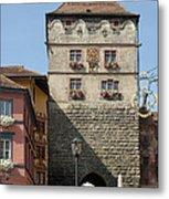 Town Gate Schwarzes Tor In Rottweil Germany Metal Print by Matthias Hauser