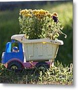 Toy Truck Planter Metal Print by Gordon Wood