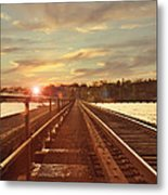 Tracks To Greatness Metal Print by Joel Witmeyer