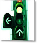 Traffic Lights Metal Print by Kevin Curtis