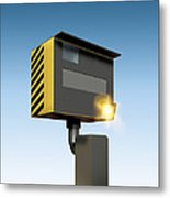 Traffic Speed Camera Metal Print by Victor Habbick Visions