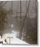 Trailhead Covered With Snow Metal Print by Will and Deni McIntyre
