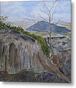 Trails End - Rocks Trees And Sky Metal Print by Joel Deutsch