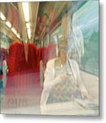 Train Travel Metal Print by Carlos Dominguez