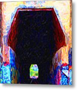Train Tunnel With Graffiti Metal Print by Wingsdomain Art and Photography