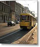 Tramway In The Morning Light Metal Print by Frederic Vigne
