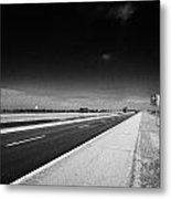 Trans Canada Highway 1 And Yellowhead Route In Manitoba Canada Metal Print by Joe Fox