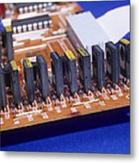 Transistors And Diodes Metal Print by Andrew Lambert Photography