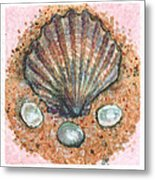 Treasure Of The Sea Metal Print by Sabrina Khan