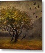 Tree And Birds Metal Print by Svetlana Sewell