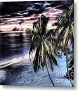 Tropical Evening Metal Print by Cheryl Young