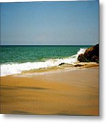 Tropical Sandy Beach Metal Print by Jasna Buncic