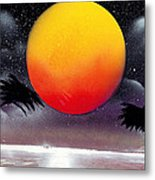 Tropical Sunset Metal Print by Marc Chambers