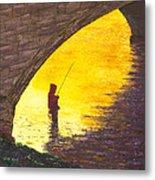 Trout Fishing Metal Print by Garry McMichael